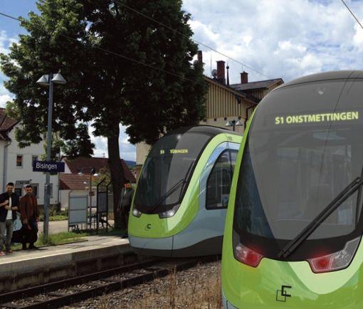 Noch Zukunftsmusik: die Regionalstadtbahn. Eine Projektgesellschaft soll sie vorantreiben. Grafik: TriCon Design AG