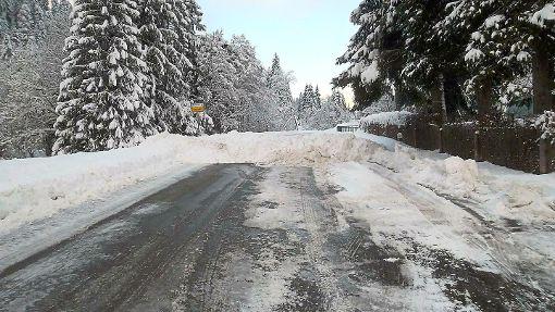 Die Straße zwischen Obertal und Ruhestein ist wegen Schneebruchgefahr gesperrt.  Foto: Gaiser Foto: Schwarzwälder-Bote