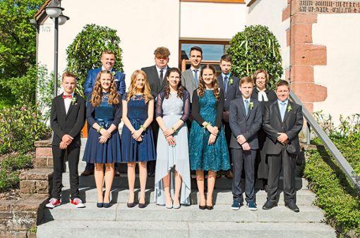 Elf Jugendliche wurden in der St.-Galluskirche in Wittlensweiler konfirmiert. Foto: Kirchengemeinde