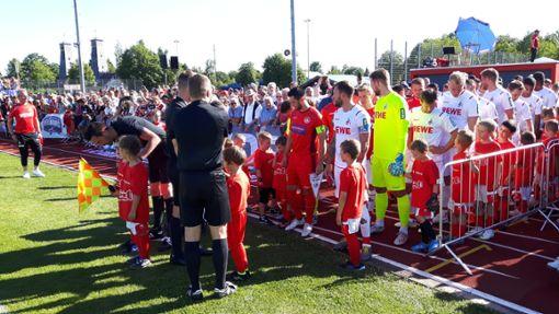 Was für ein Jubiläumsspiel in Bad Dürrheim. Bundesligist 1. FC Köln gab sein Stelldichein.  Foto: Campos