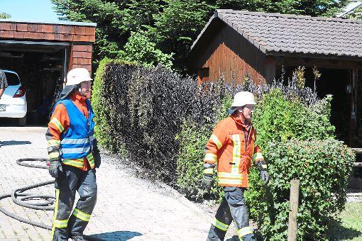 Die Feuerwehr musste bei einem Heckenbrand in Buchenberg nicht mehr großartig eingreifen. Foto: Eich