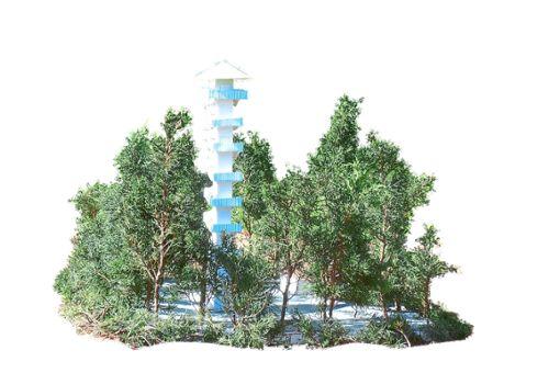Dieses Modell eines Turms hat Bauingenieur Stefan Roether aus Salmbach gebaut. Nach den derzeitigen Schätzungen  kostet der neue Schömberger Aussichtsturm rund 2,5 Millionen Euro. Roether glaubt, dass ein Turm wesentlich günstiger gebaut werden könnte.   Foto: Privat
