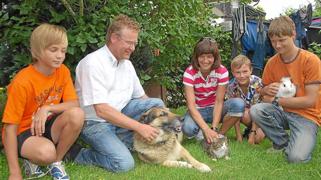 Tiere geh ren selbstverst ndlich zum leben der familie for Minimalistisch leben mit familie
