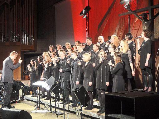Der LaKi-Popchor gab am Wochenende ein denkwürdiges Konzert in der Versöhnungskirche in Heumaden.  Foto: Schillaci Foto: Schwarzwälder-Bote