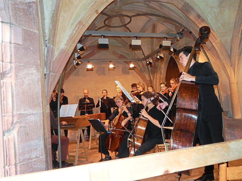 Das Landesjugendbarockorchester Baden-Württemberg war zu Gast beim Klosterfest in Alpirsbach und gab ein Konzert im Kreuzgang. Foto: Blaich Foto: Schwarzwälder-Bote