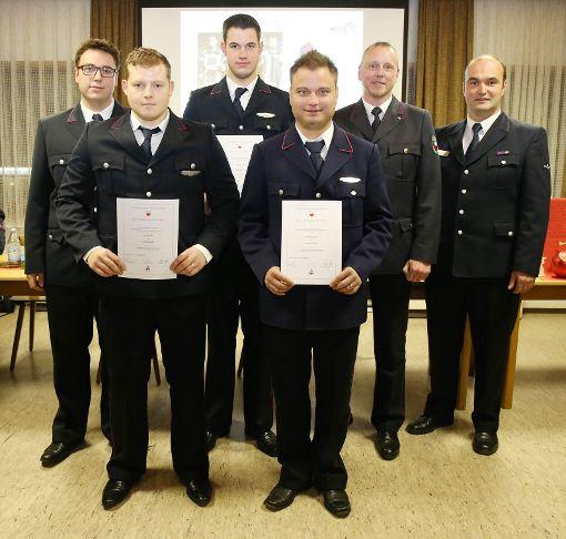 Bei der Bildechinger Feuerwehr gab es Beförderungen. Foto: Schwarzwälder-Bote