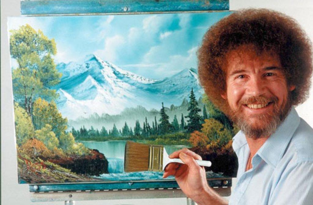 20. Todestag von TV-Maler Bob Ross: Wir machen einen fröhlichen ...