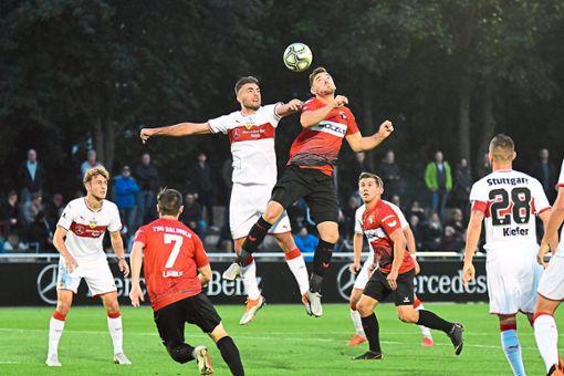 2:2 hieß es im Hinspiel zwischen Balingen und dem VfB Stuttgart II. Zuhause peilt die TSG nun  drei Zähler an.    Foto: Eibner
