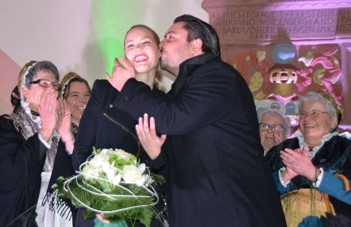 Philipp Saar mit seiner Lebensgefährtin Rebecca Koestel. Foto: Braun