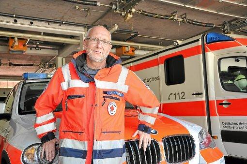 Ralf Greiner, Notarzt und Rettungsdienstleiter des DRK-Kreisverbands Wolfach, sieht Aufklärungsbedarf in puncto Notruf 112.    Foto: Möller