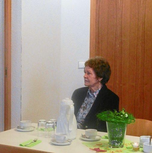 Isolde Ungemach bei ihrer Geburtstagsfeier.  Foto: Buck Foto: Schwarzwälder Bote