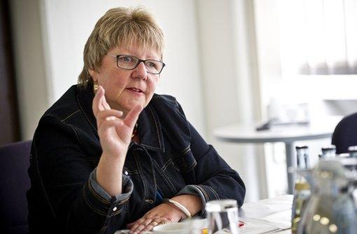 """""""Ich will gleiche Spießlänge"""", sagt die Lotto-Chefin Marion Caspers-Merk am Dienstag   beim  Gespräch  in unserer Redaktion Foto: Max Kovalenko"""