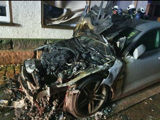 An dem Audi entstand ein Totalschaden von 25.000 Euro.  Foto: Gaby Frey