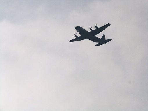 Die Lockheed C-130 Hercules wird von vier Turboprop-Triebwerken angetrieben. Foto: Bernklau