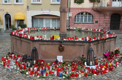 Große Trauer in Endingen nach den Mord an Carolin G. Foto: dpa