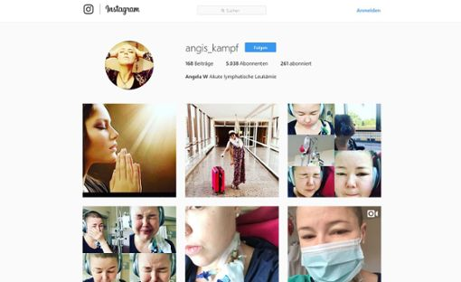 Neue Hoffnung für Angela Wehrmann: Ihr Stammzellen-Spender ist nicht abgesprungen, sondern krank.  Foto: Screenshot Instagram