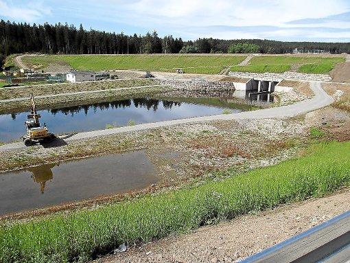 Kaum fertig, gibt es nach dem Bau des Hochwasserschutzes in Wolterdingen bereits ersten Unmut über die künftige Straßenführung.  Foto: Hönle Foto: Schwarzwälder-Bote