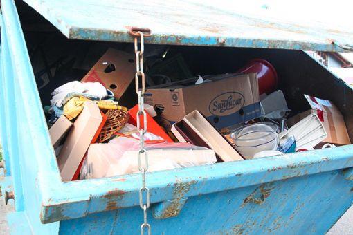 Was im Kreis in den Mülltonnen und Containern landet, legte das Landratsamt im Kreistagsausschuss dar. Foto: Rath