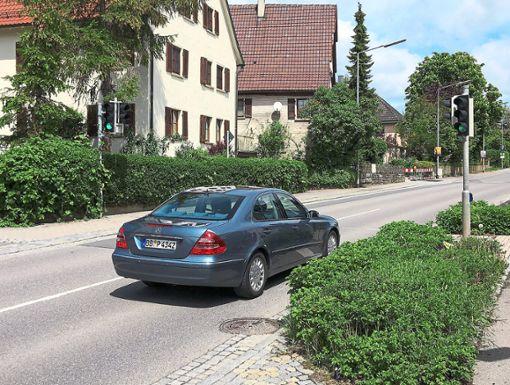 Bei der Verkehrsschau in Oberjettingen wurde Tempo 30 bei der Fußgängerampel in der Herrenberger Straße abgelehnt.    Foto: Priestersbach Foto: Schwarzwälder Bote