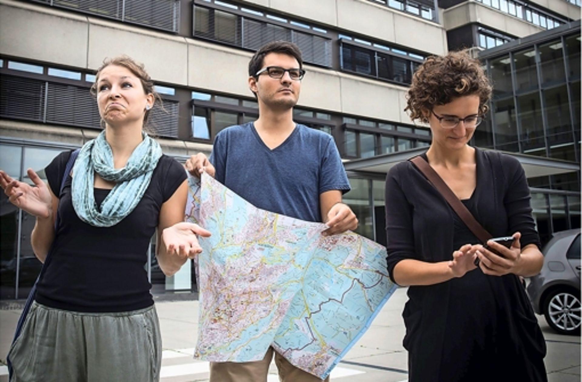Mit Navi, Stadtplan oder Fragen?: Und wie komme ich am