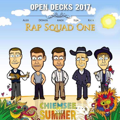 Alex, Döner, Andi, Ilja und Rick wollen als »Rap Squad One« beim Chiemsee Summer Headliner werden. Foto: Festival