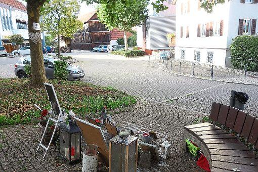 Der Platz, an dem Umut K. in Hechingen erschossen wurde, ist von der Polizei mit modernster Lasertechnik vermessen und in ein 3D-Modell umgerechnet worden. Daraus ergeben sich Angaben, von welcher Stelle aus geschossen wurde.  Foto: Stopper