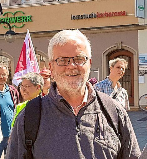 Günter Busch spricht bei der Veranstaltung zur Europawahl.  Foto: Veranstalter Foto: Schwarzwälder Bote
