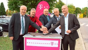 Start für Telekom-Glasfasernetz