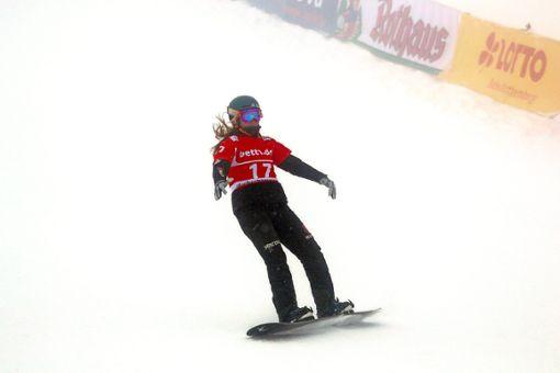 Die Bräunlingerin Jana Fischer vom SC Löffingen konnte sich beim Nebel-Lotto am Feldberg nicht für die Finalläufe qualifizieren.   Foto: Hahne