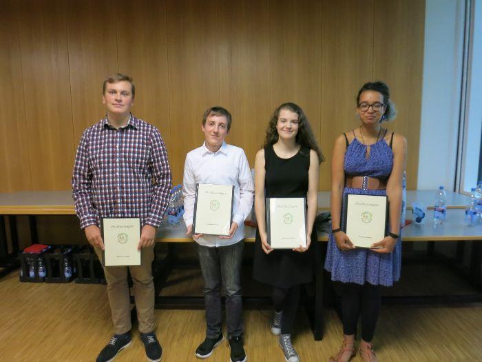 Die erfolgreichen Absolventen der Freien Schule Brigach: Lukas Schaz (von links), Alexander Wöhrle, Jule Dold und Christinita Hargrove Foto: Schule