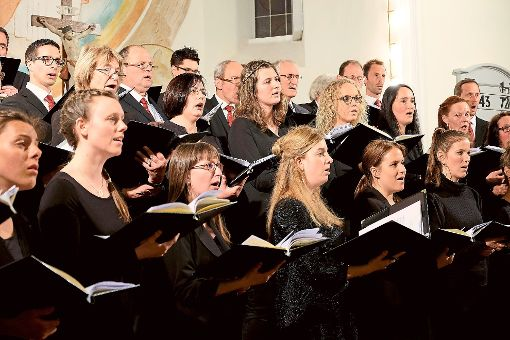Zu Ehren der Eheleute Wieber haben sich rund 50 Ehemalige der Christophorus-Kantorei zu einem Chor zusammen gefunden, der die nächste Stunde der Kirchenmusik gestaltet.  Foto: CKA Foto: Schwarzwälder-Bote