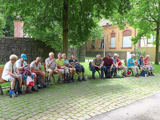 Eine Wandergruppe des Schwarzwaldvereins Horb fuhr mit dem Zug nach Pforzheim und ging dort im Nagoldtal wandern.  Foto: Schwarzwaldverein Foto: Schwarzwälder Bote