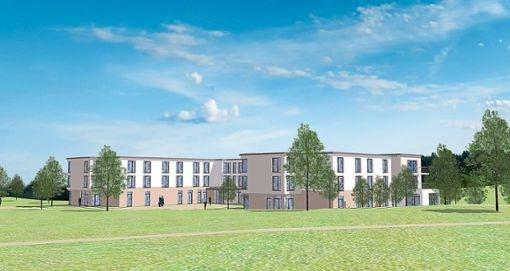 So soll das künftige Pflegeheim in Weilstetten einmal aussehen. Der Ortschaftsrat hat dem Baugesuch nun zugestimmt. Foto: Büro Hiemisch