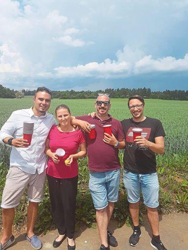 In Vorfreude auf das nächste Event (von links):  Patrick Walz, Sandra Wehrstein, Roberto Schiliro und Daniel Sink.   Foto: CE Foto: Schwarzwälder Bote