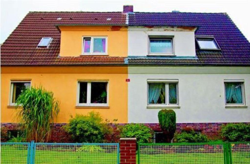 Qual Der Wahl Fassadenfarbe Gut Uberlegen Bauen Wohnen