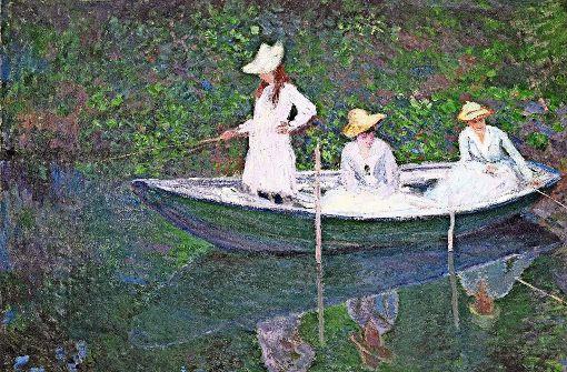 """""""In der Barke"""", ein Gemälde von Claude Monet Foto: RMN-Grand Palais/Musée dOrsay/dpa"""