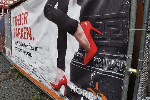 Hängt nicht mehr: Freier-Parken-Plakat. Foto: Hopp