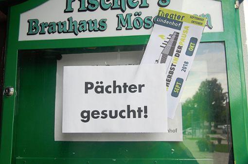 Schwarz auf weiß: Pächter gesucht. Foto: Rapthel-Kieser/Haug