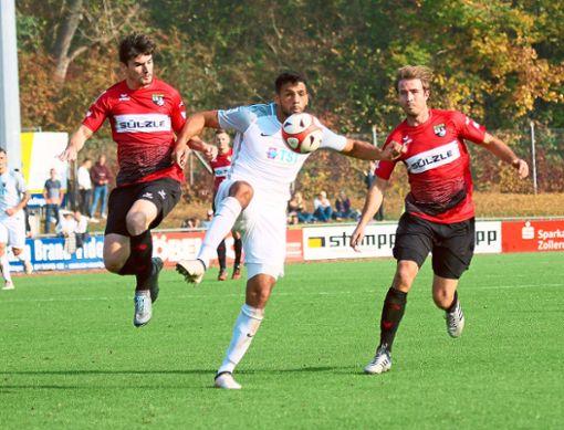 Endlich treffen auch die Stürmer der TSG: Patrick Lauble (links) und Stefan Vogler erzielten die Tore beim 2:0 gegen Worms.   Foto: Kara