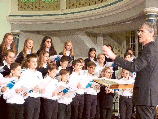 Der Kinderchor bei seinem Auftritt in der Stadtkirche.  Foto: Kosowska-Németh Foto: Schwarzwälder-Bote