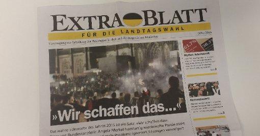 Ein Extrablatt soll die AfD unterstützen. Foto: (skue)