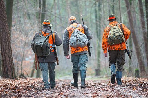 Jäger im Längewald bei Donaueschingen begeben sich auf die Jagd. Foto: Gentsch