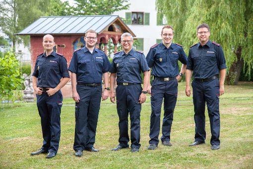 Das Team Presse- und Medienarbeit der Rottweiler Feuerwehr (von links): Marius Daute, Benjamin Pfeiffer, Rüdiger Mack, Jonas Wolf und Mathias Woywod   Foto: Feuerwehr Foto: Schwarzwälder-Bote