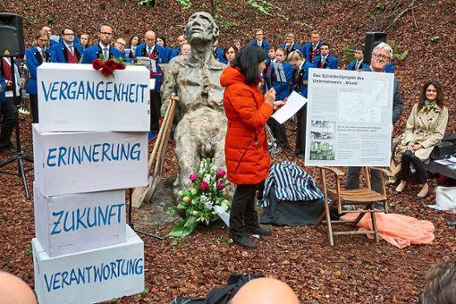 Neu erstellte  Dokumentationstafeln  in der Gedenkstätte Eckerwald sollen dazu beitragen, dass das Geschehene nicht in Vergessenheit gerät.  Foto: Kiener Foto: Schwarzwälder Bote