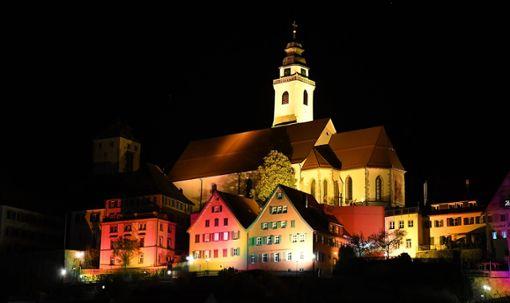 Eine neue Lichtershow wartet auf die Besucher der Langen Nacht der Lichter am Freitag. Foto: Hopp