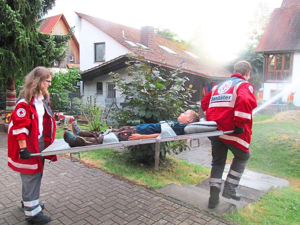 Steinach: Feuerwehr und DRK proben Ernstfall - Steinach ...