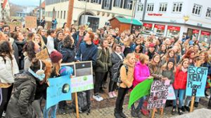 Balingen:  Fridays for Future: Schüler demonstrieren