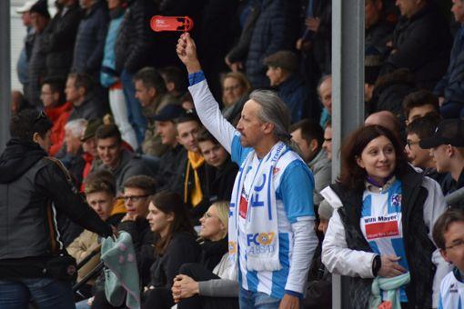 Die Fans waren begeistert von ihrer Mannschaft. Foto: Jannik Nölke