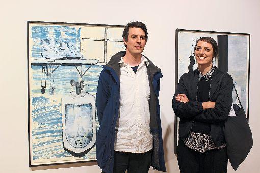 Mark van Yetter und Kasia Fudakowski sind zwei der drei Fürstenberg-Zeitgenössisch-Stipendiaten, die momentan im Rahmen der Ausstellung in den Donaueschinger Fürstenberg Sammlungen zu sehen sind.   Foto: Strohmeier