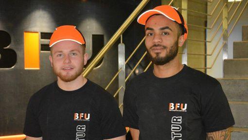 Yannick Meen (links), 24 Jahre (ausgelernt) und Benedikt Buck, 19 Jahre (Auszubildender im 3. Lehrjahr) bei der BFU GbmH&Co. KG in Waldmössingen. Foto: BFU